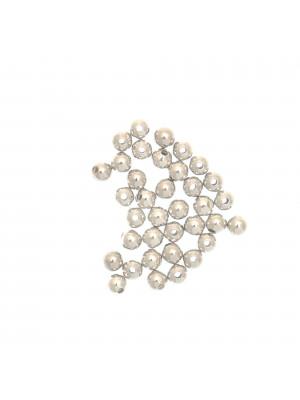 Distanziatore liscio a palla 3 mm. in Argento 925