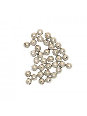 Distanziatore liscio a palla 4 mm. Argento 925 (foro stretto)