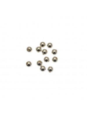 Distanziatore liscio a palla 5 mm., con foro laterale, in Argento Lucido 925