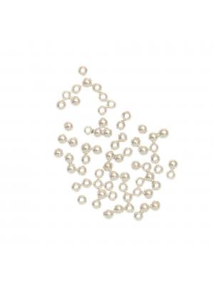 Distanziatore liscio a palla 2,6 mm. in Argento 925