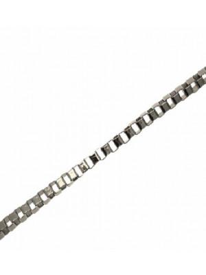 Catena veneziana, sottile, in allumino, dimensione anello 3x3 mm.