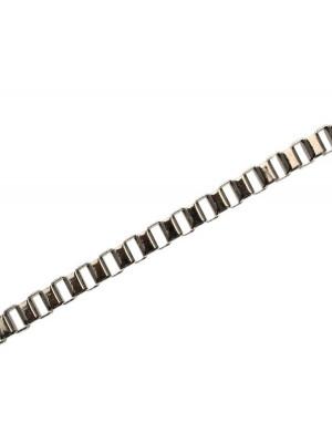 Catena veneziana, sottile, in allumino, dimensione anello 6x6 mm.