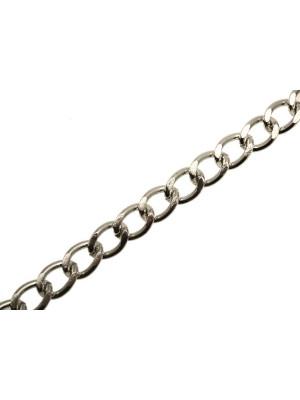 Catena grumetta piatta, in alluminio, dimensione anello 9,5x14 mm.