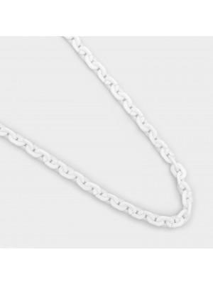 Catena Ovale, in Resina, dimensione anello 9x6 mm., colore Bianco