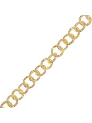 Catena tonda semplice, in alluminio, diametro dell'anello 10 mm.