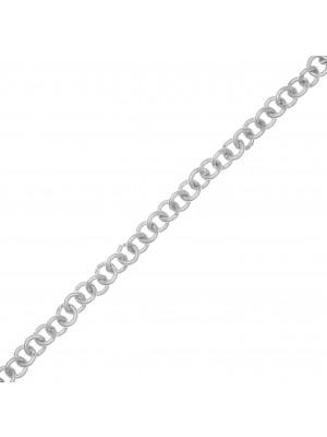 Catena tonda semplice, in alluminio, diametro dell'anello 5,7 mm.