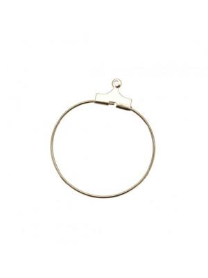 Cerchio per orecchino apribile per l'inserimento di perle, diametro 25 mm.