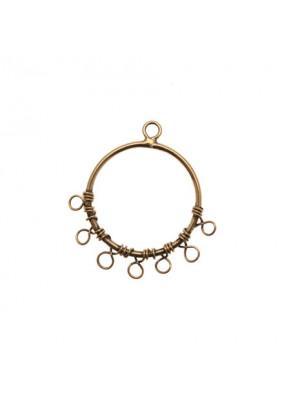Cerchio per orecchino chiuso, largo 22 mm., lungo 24 mm.