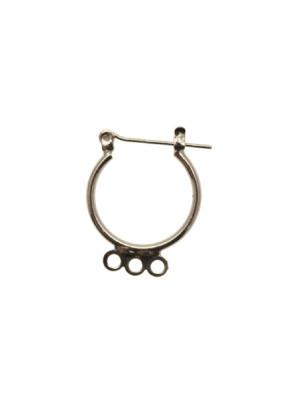 Cerchio per orecchino apribile, con chiusura americana, largo 18 mm., lungo 23 mm.