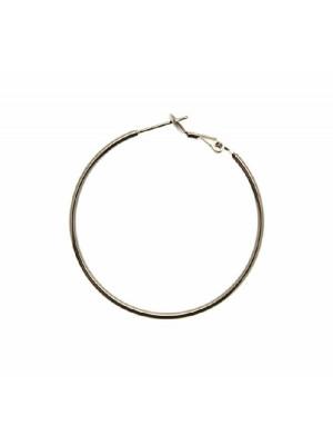Cerchio liscio, spessore 1,5 mm., con chiusura a molla, diametro cerchio 40 mm., CONF.2 PZ