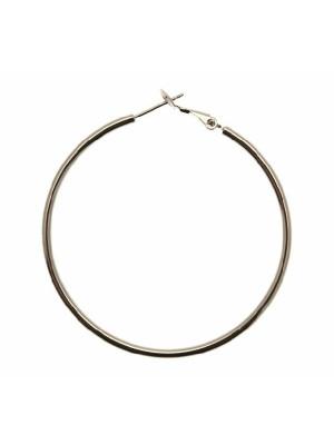 Cerchio liscio, spessore 1,5 mm., con chiusura a molla, diametro cerchio 50 mm.
