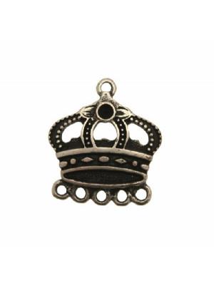 Base per orecchino a forma di corona, larga 26 mm., lungo 30 mm.