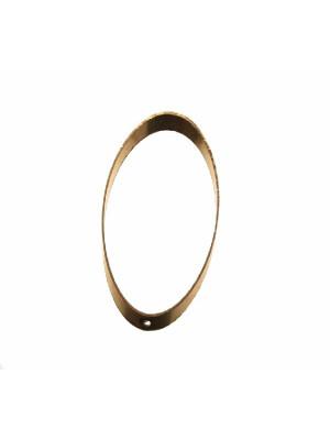 Base per orecchino a forma di ovale liscio, largo 18 mm., lungo 39 mm.