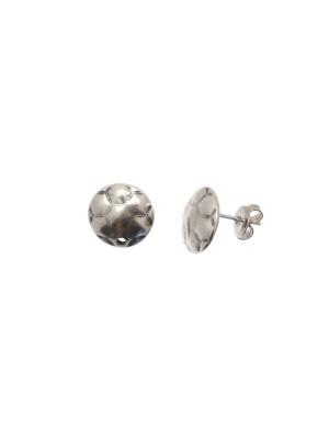 Perno a forma di tondo bombato, disegno esagoni, 12x12 mm.