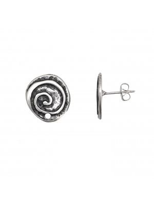 Perno tondo irregolare lavorato a spirale, 16x17mm., CONF.2 PZ