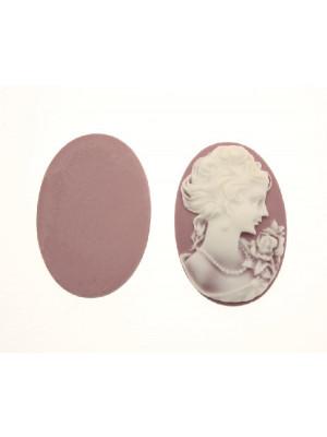 Cabochon a cameo ovale in resina, da incollo, color Rosa antico