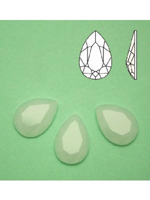 Cabochon a goccia sfaccettata, in cristallo, colore BIANCO OPALE
