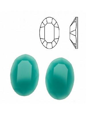 Cabochon ovale sfaccettato, in cristallo, colore AZZURRO OPALE