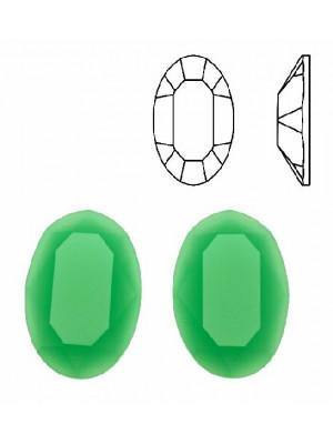 Cabochon ovale sfaccettato, in cristallo, colore VERDE OPALE