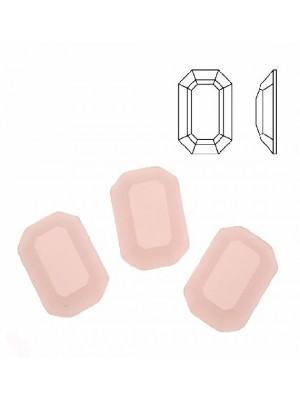 Cabochon rettangolare sfaccettato, in cristallo, colore ROSA OPALE