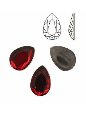 Cabochon a goccia sfaccettata, in resina, colore ROSSO SCURO
