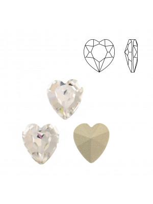 Gemma a cuore, in cristallo, colore CRYSTAL