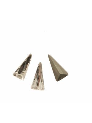 Gemma triangolare, in cristallo, colore CRYSTAL