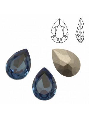 Gemma a goccia sfaccettata, in cristallo, colore ZAFFIRO