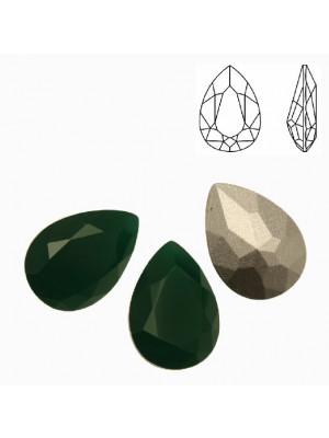 Gemma a goccia sfaccettata, in cristallo, colore PALACE GREEN OPAL