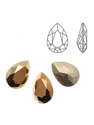 Gemma a goccia sfaccettata, in cristallo, colore TABAC