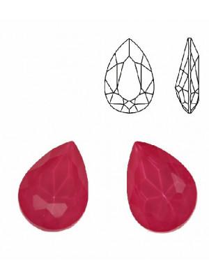 Gemma a goccia sfaccettata, in cristallo, colore FUCSIA
