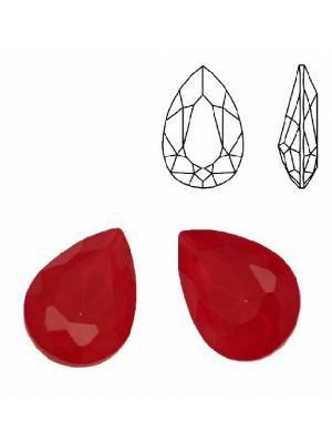 Gemma a goccia sfaccettata, in cristallo, colore ROSSO