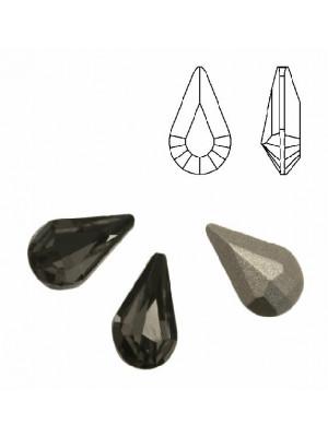 Gemma a goccia piccola sfaccettata, in cristallo, colore BLACK DIAMOND