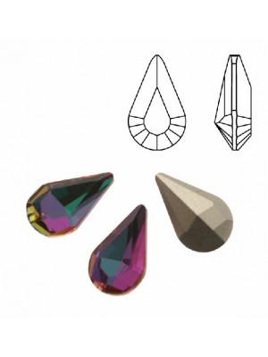 Gemma a goccia piccola sfaccettata, in cristallo, colore CATHEDRAL