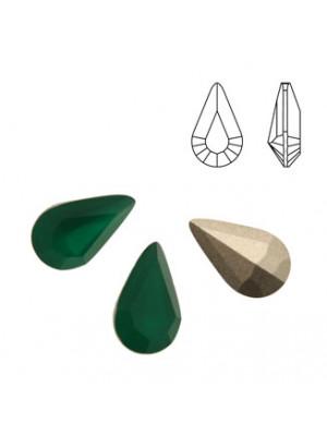 Gemma a goccia piccola sfaccettata, in cristallo, colore PALACE GREEN OPAL