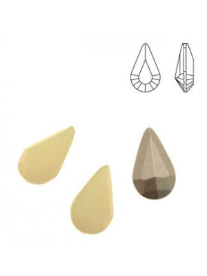 Gemma a goccia piccola sfaccettata, in cristallo, colore SAND OPAL