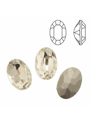 Gemma ovale sfaccettata, in cristallo, colore CRYSTAL