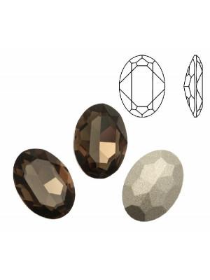 Gemma ovale sfaccettata, in cristallo, colore SMOKY QUARTZ