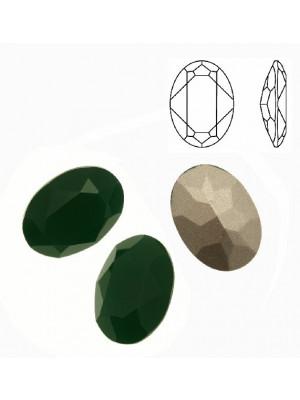 Gemma ovale sfaccettata, in cristallo, colore PALACE GREEN OPAL