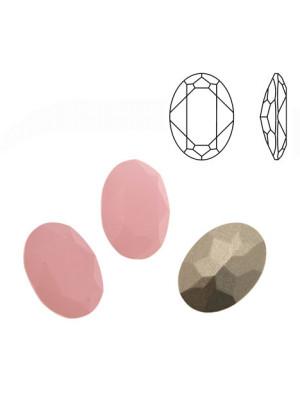 Gemma ovale sfaccettata, in cristallo, colore ROSE OPAL