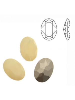 Gemma ovale sfaccettata, in cristallo, colore SAND OPAL