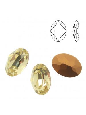 Gemma ovale sfaccettata, in cristallo, colore JONQUIL