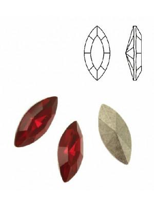 Gemma a navetta sfaccettata, in plexiglass, colore ROSSO OPAL