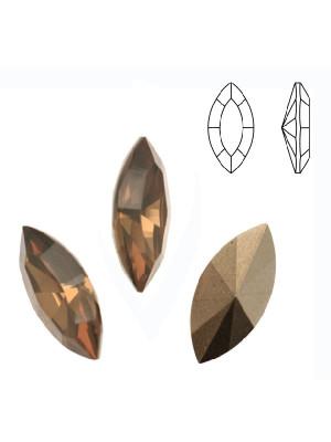 Gemma a navetta sfaccettata, in resina, colore SAND OPAL