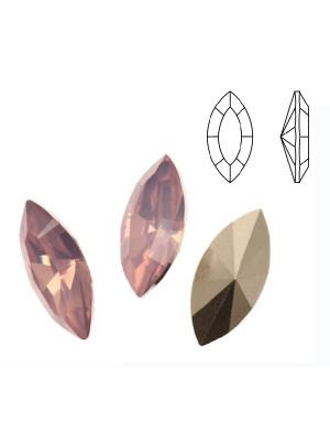Gemma a navetta sfaccettata, in resina, colore ROSE WATER OPAL
