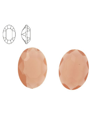 Gemma ovale sfaccettata, in resina, colore ROSA OPALE