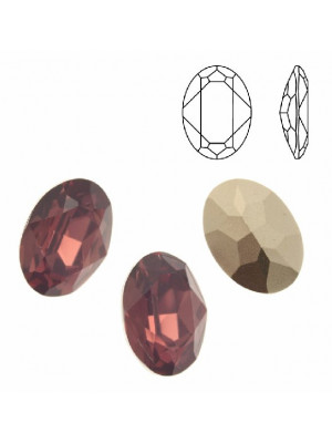 Gemma ovale sfaccettata, in resina, colore CYCLAMEN OPAL