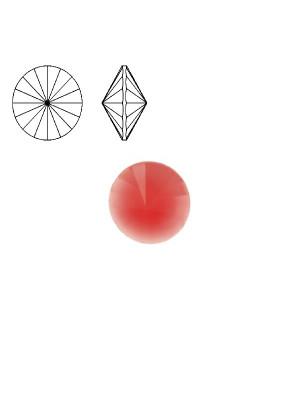 Gemma tonda a rivolo sfaccettata, in resina, colore FUCSIA OPALE