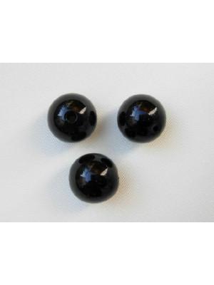 Perla effetto perlato in resina liscia colore Nero