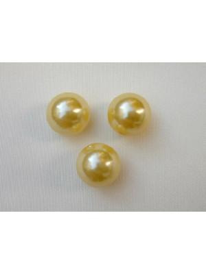 Perla effetto perlato in resina liscia colore Giallo